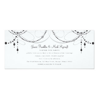 Chandelier Tea Length Wedding Invitation