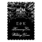 Chandelier, tree lights at night Vows Renewal Card