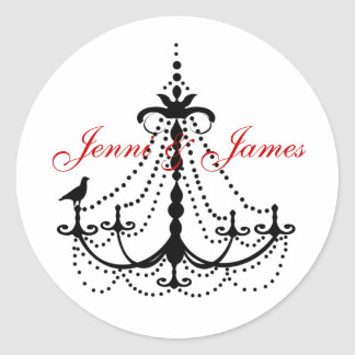 Chandelier Wedding Favour Stickers
