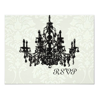 Chandelier Wedding RSVP requires 5x7 invite