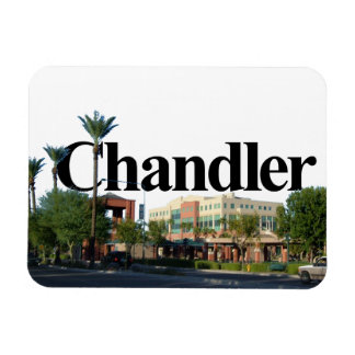 Chandler Arizona Skyline w/ Chandler in the Sky Rectangular Photo Magnet