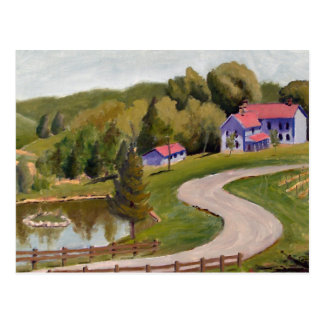 Chandler Hill View Landscape Oil Painting Postcard