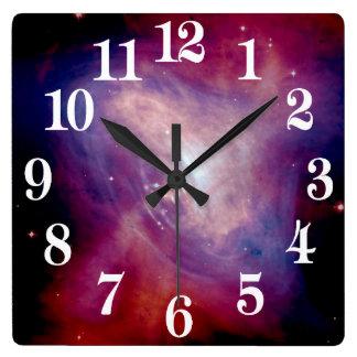 Chandra Crab Nebula NASA Square Wall Clock