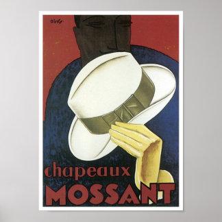 Chaneaux Mossant Vintage Apparel Ad Poster