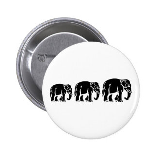 Chang Chang Chang ~ Elephants Crossing 2 Inch Round Button