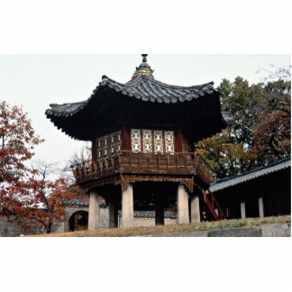 Changdok Palace in fall Photo Sculpture
