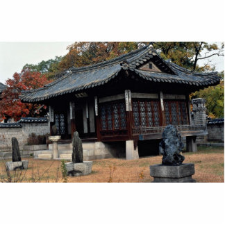 Changdok Palace in fall Photo Cut Out