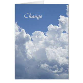 Change: A Motivational Template Card