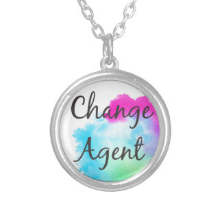 Change Agent Silver Plated Necklace
