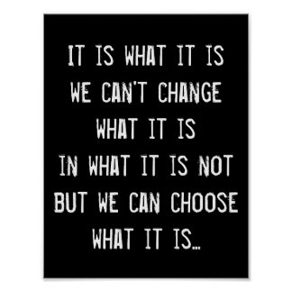 Change Awareness Inspirational Quote Wisdom Poster