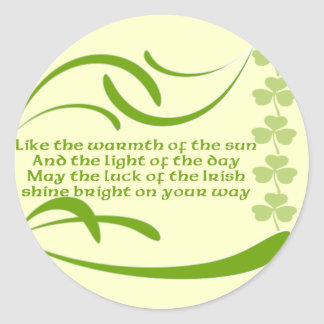 Change background color-Irish Blessing Classic Round Sticker