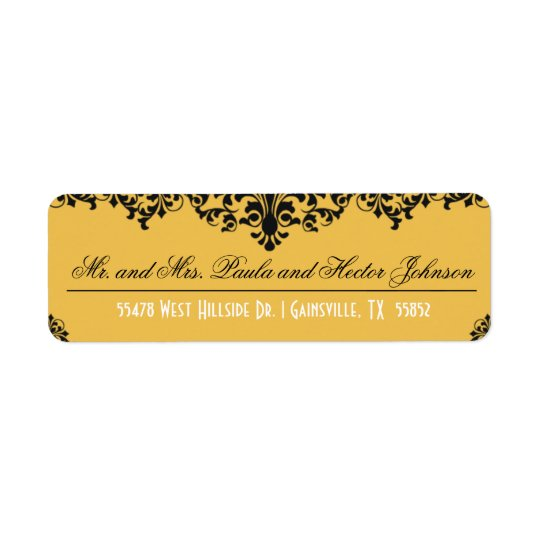 Change Background Colour Return Address Label