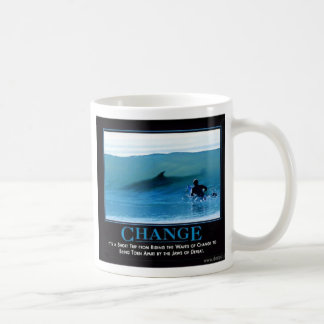 change classic white coffee mug