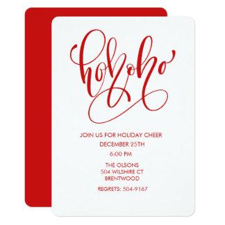 CHANGE COLOR - Ho Ho Christmas Holiday Invitation