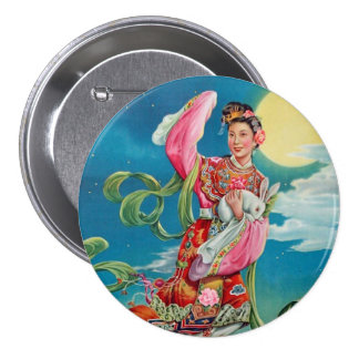 Chang'e Flying to the Moon 3 Inch Round Button