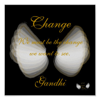 Change, Gandhi's Quote Poster,- Customize Poster