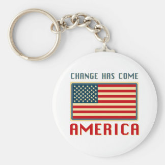 Change Has Come to America Obama Basic Round Button Keychain