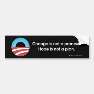 Change & Hope? Bumper Sticker