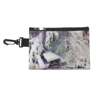 Change in Plans Snow Covered Picnic Table, Pines Accessories Bags