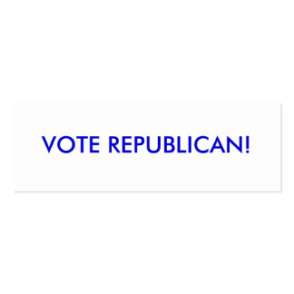 """""""change is coming"""" McCain / Palin Republican Party Business Card"""
