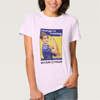 """""""change is coming"""" Mccain / Palin Republican Party Shirts"""