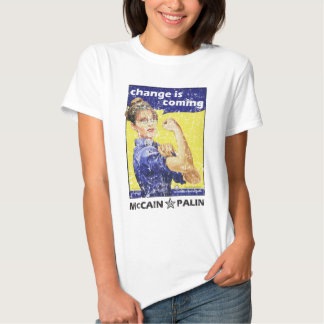"""Change is coming"" McCain / Palin Republican Party Tee Shirt"