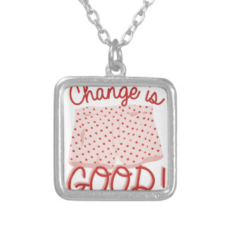 Change Is Good! Silver Plated Necklace