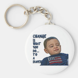 Change is what you do... to a diaper! key chain