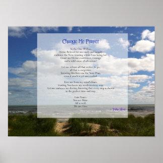 Change Me Prayer for Trusting Poster