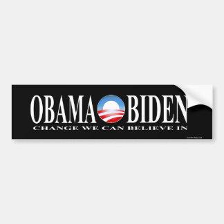 Change obama biden sticker black bumper sticker