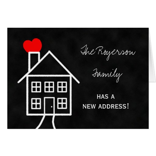 Change of Address Announcement Note Card