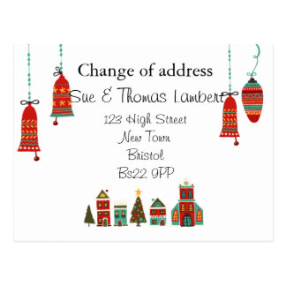 Change of address christmas postcard