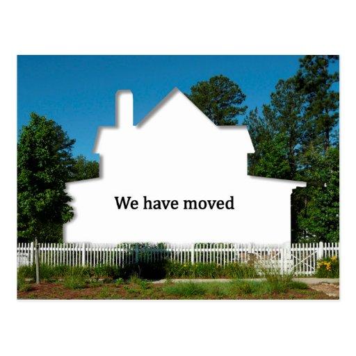 Change of address idea: We have moved, Postcard