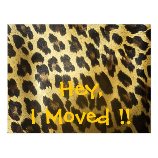 Change of Address Leopard Print Postcard