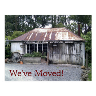 Change of Address Old Cottage Postcard