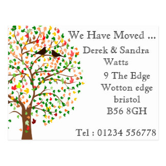 Change of address postcard we have moved autumn