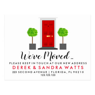 Change of address postcard we have moved door