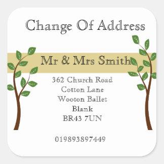 Change of Address Square Sticker