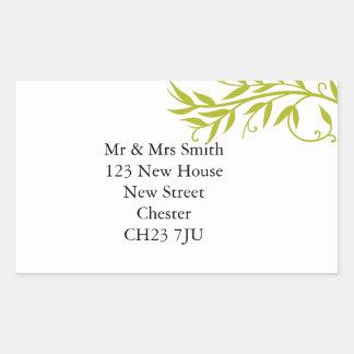 Change of address sticker