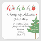Change of Address sticker Christmas
