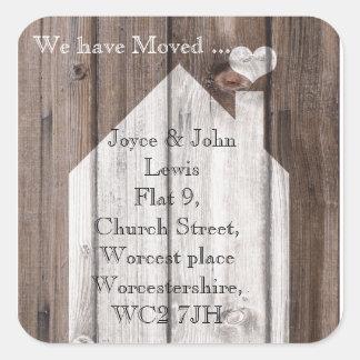 Change of Address Stickers wood house