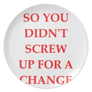 CHANGE PLATES