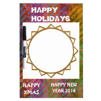 Change Text :  NEWYEAR HOLIDAYS CHRISTMAS XMAS DIY Dry-Erase Whiteboard