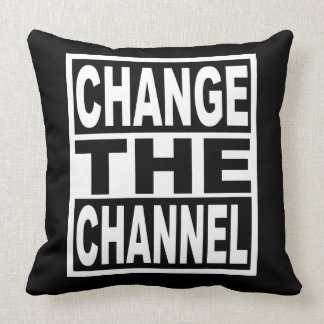 Change the Channel Throw Pillow