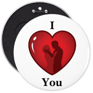 Change the Color Heart 6 Inch Round Button