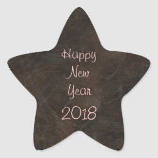 Change the Date Happy New Year Star Stickers