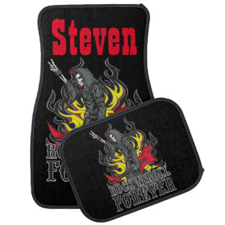 Change The Name Rock N Roll Forever Grim Reaper Car Mat