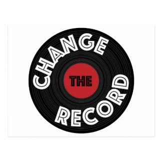 Change the Record Postcard