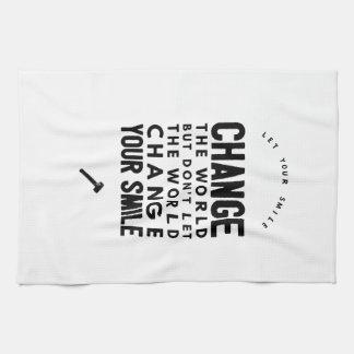 Change the world hand towel