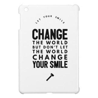 Change the world iPad mini case